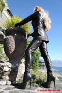 Pvc boots leather latex 122