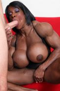 YVETTE BOVA - SEXY, BLACK, MUSCLE GILF with MONSTER TITS!