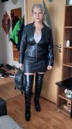 Pvc boots leather latex 123