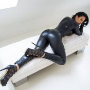 Mix leather latex and lingerie 30